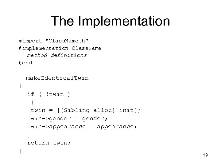 The Implementation #import