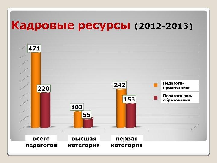 Кадровые ресурсы (2012 -2013)