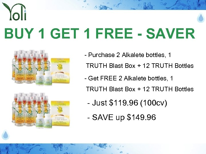 BUY 1 GET 1 FREE - SAVER - Purchase 2 Alkalete bottles, 1 TRUTH
