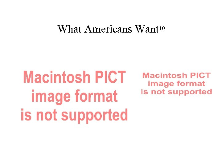 What Americans Want 10
