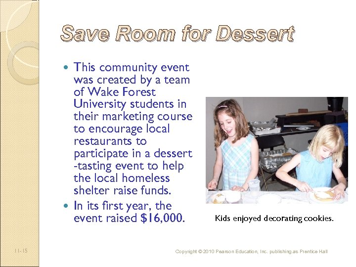 Save Room for Dessert This community event was created by a team of Wake