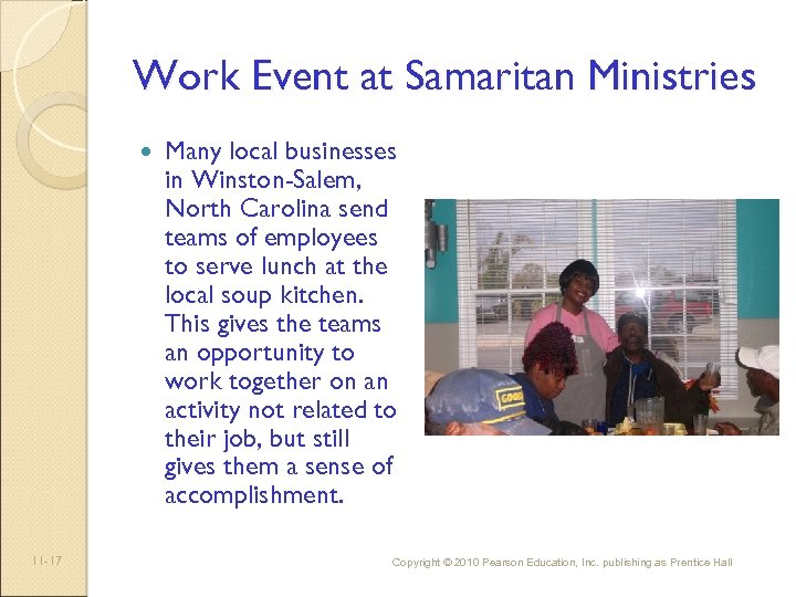 Work Event at Samaritan Ministries 11 -17 Many local businesses in Winston-Salem, North Carolina