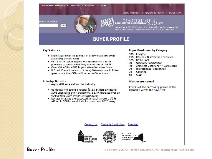 11 -7 Buyer Profile Copyright © 2010 Pearson Education, Inc. publishing as Prentice Hall