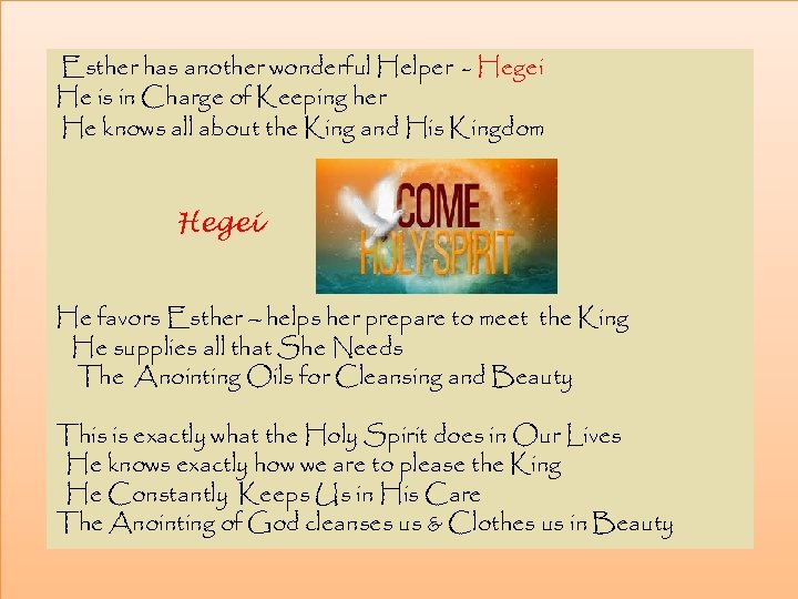 Esther has another wonderful Helper - Hegei He is in Charge of Keeping her