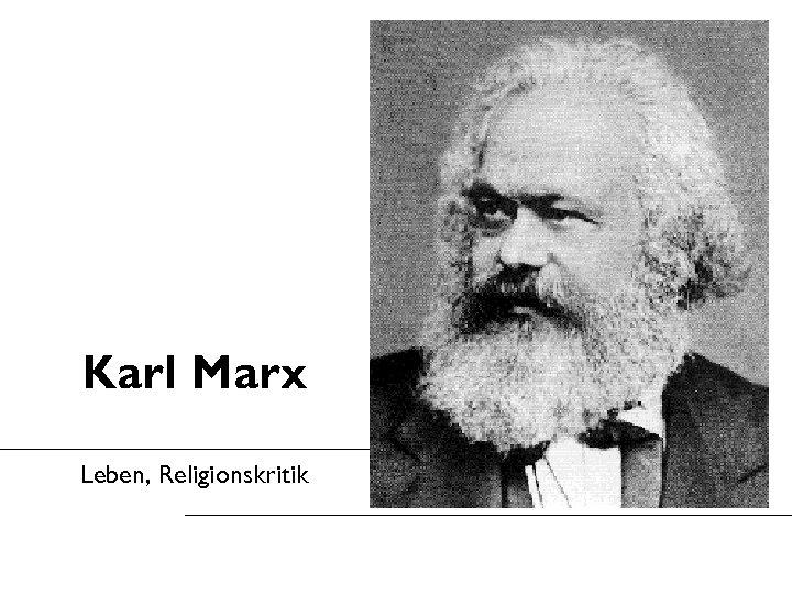 Karl Marx Leben, Religionskritik