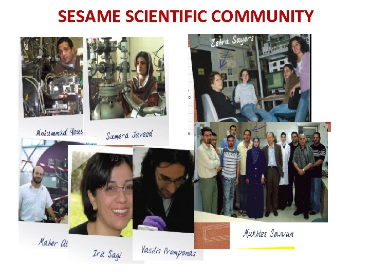 SESAME SCIENTIFIC COMMUNITY