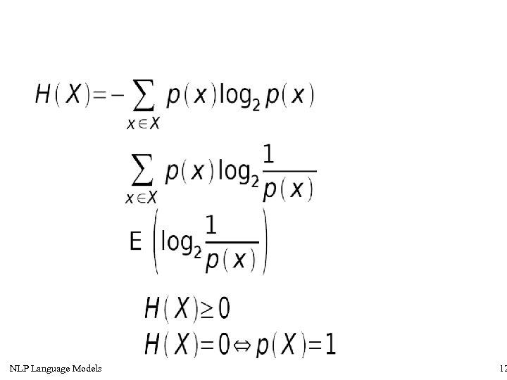 NLP Language Models 12