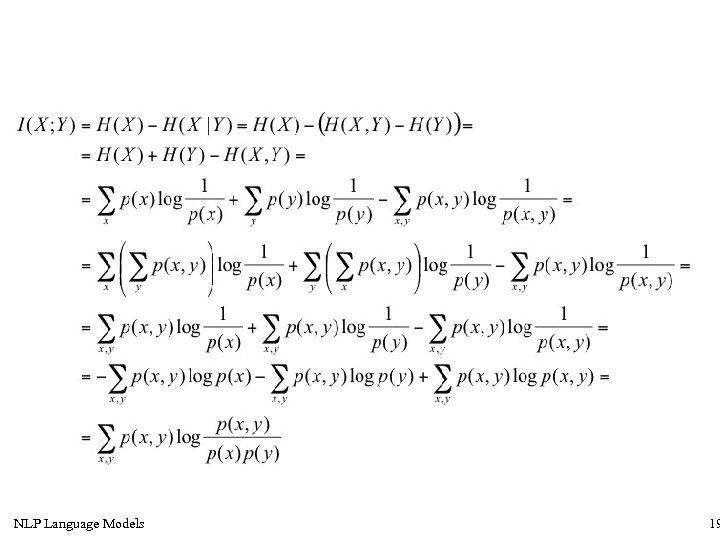 NLP Language Models 19