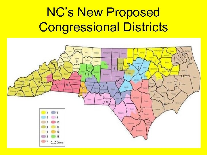 NC's New Proposed Congressional Districts