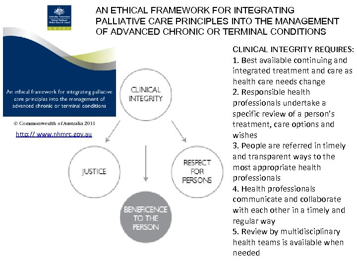 AN ETHICAL FRAMEWORK FOR INTEGRATING PALLIATIVE CARE PRINCIPLES INTO THE MANAGEMENT OF ADVANCED CHRONIC