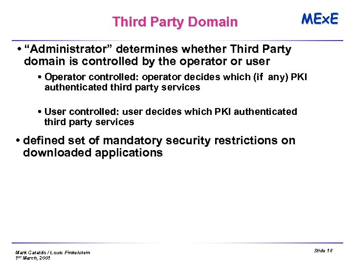 "Third Party Domain MEx. E ""Administrator"" determines whether Third Party domain is controlled by"