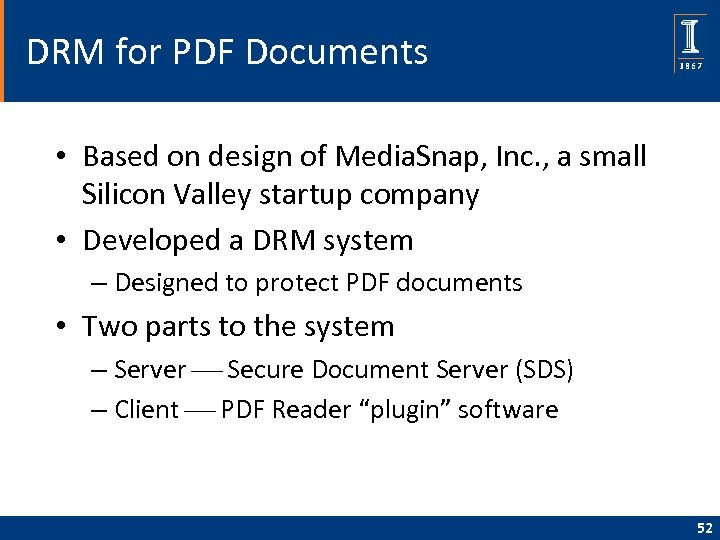 DRM for PDF Documents • Based on design of Media. Snap, Inc. , a