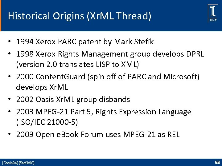 Historical Origins (Xr. ML Thread) • 1994 Xerox PARC patent by Mark Stefik •