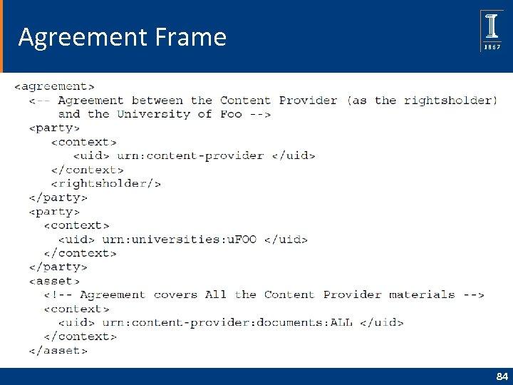 Agreement Frame 84