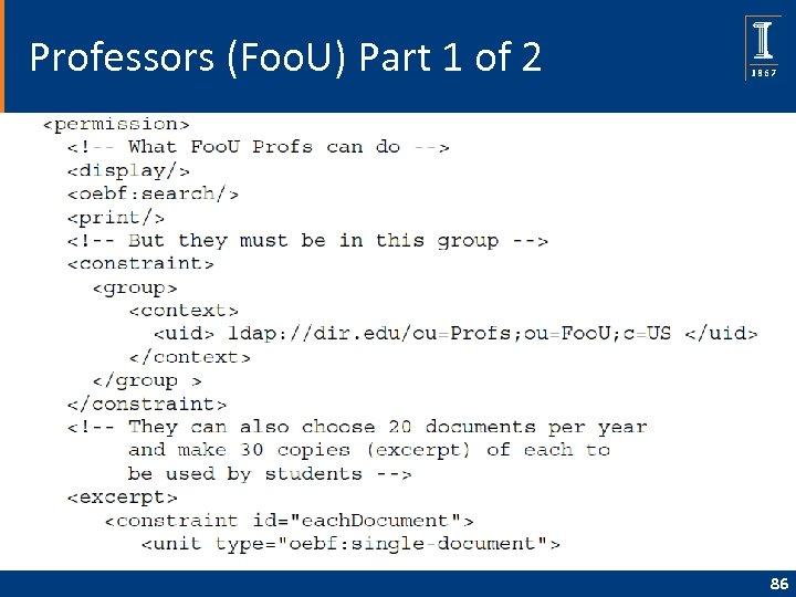 Professors (Foo. U) Part 1 of 2 86