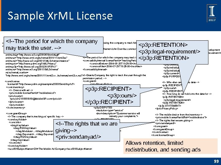 Sample Xr. ML License <!--The period for which the company may track the user.