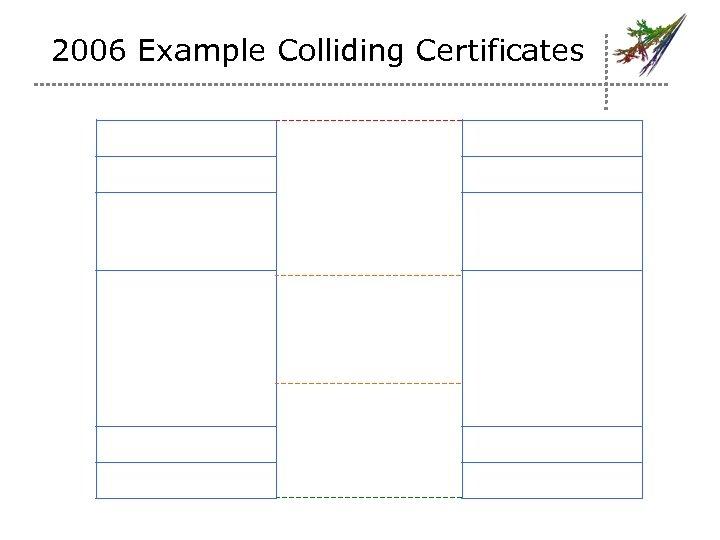 2006 Example Colliding Certificates