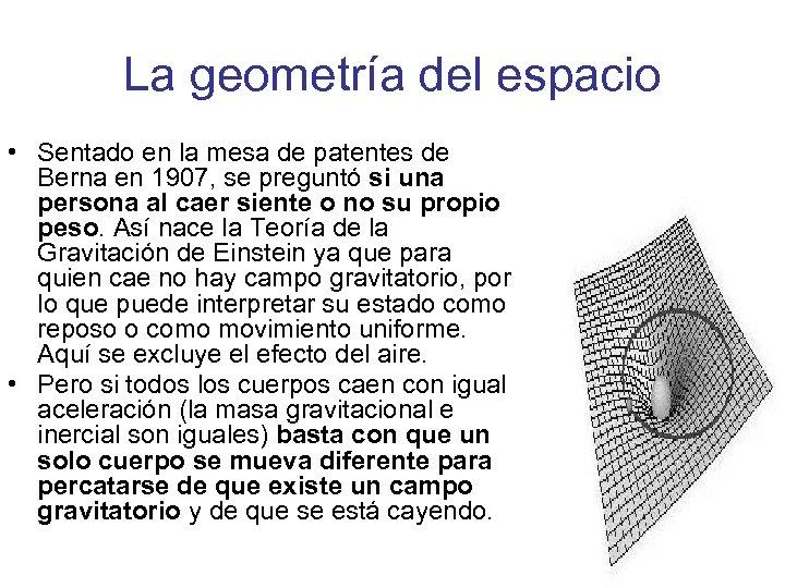 La geometría del espacio • Sentado en la mesa de patentes de Berna en