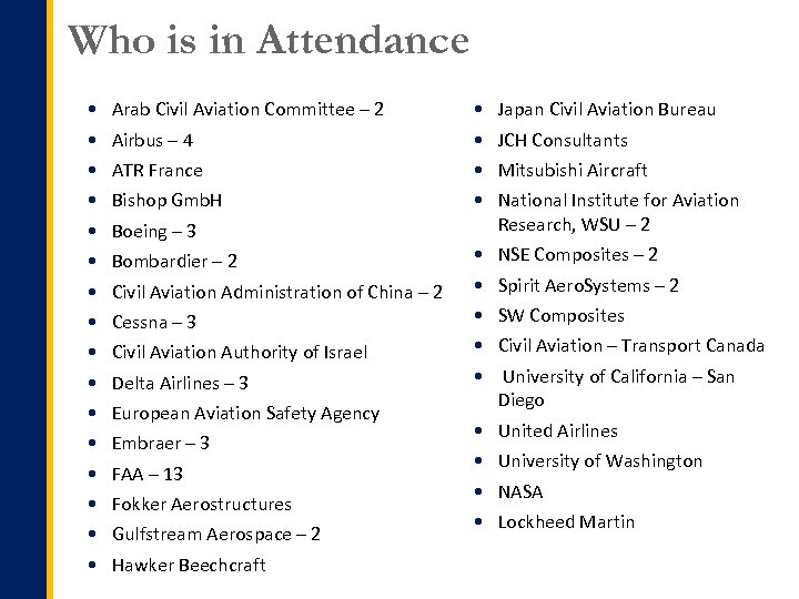 Who is in Attendance Arab Civil Aviation Committee – 2 Japan Civil Aviation Bureau