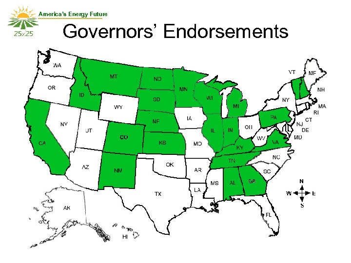 America's Energy Future Governors' Endorsements