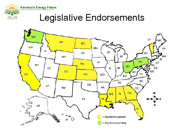 America's Energy Future Legislative Endorsements