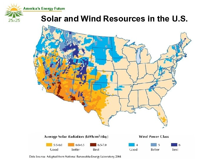 America's Energy Future Solar and Wind Resources in the U. S.