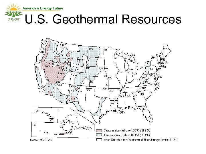 America's Energy Future U. S. Geothermal Resources