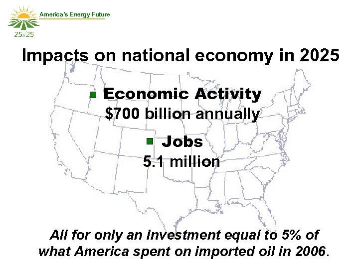 America's Energy Future Impacts on national economy in 2025 Economic Activity $700 billion annually