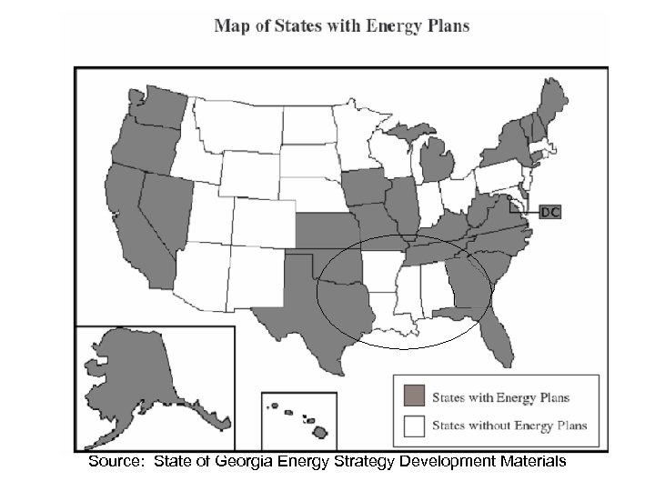 Source: State of Georgia Energy Strategy Development Materials