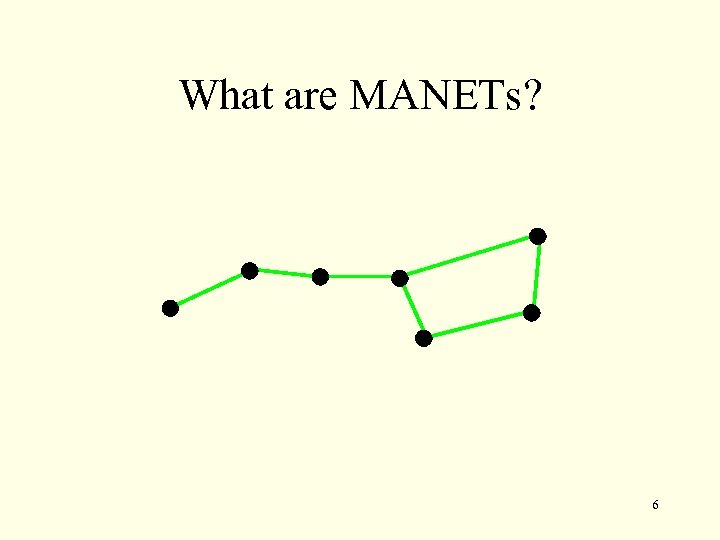 What are MANETs? 6