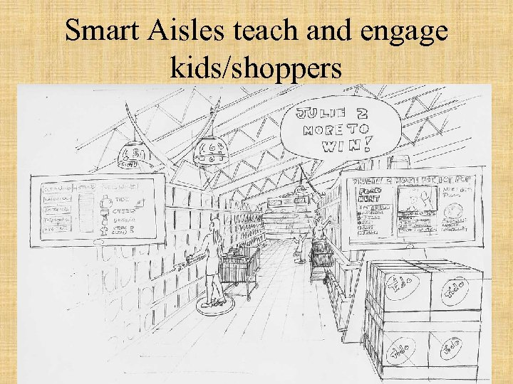 Smart Aisles teach and engage kids/shoppers