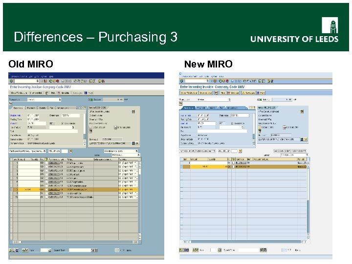 Differences – Purchasing 3 Old MIRO New MIRO