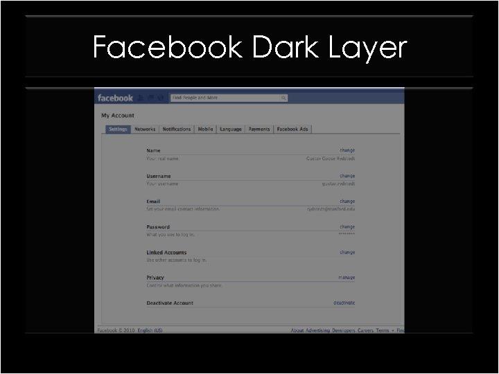 Facebook Dark Layer
