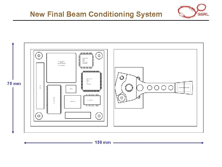 New Final Beam Conditioning System 75 mm 150 mm