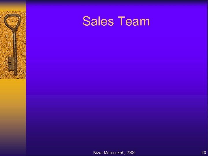 Sales Team Nizar Mabroukeh, 2000 23
