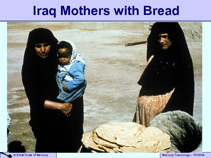Iraq Mothers with Bread A Small Dose of Mercury Toxicology – 10/13/04