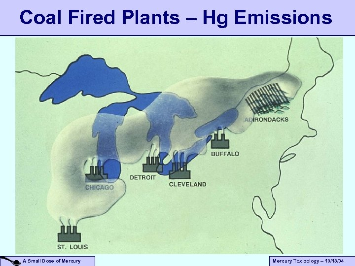 Coal Fired Plants – Hg Emissions A Small Dose of Mercury Toxicology – 10/13/04