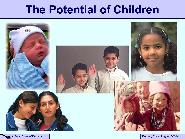The Potential of Children A Small Dose of Mercury Toxicology – 10/13/04