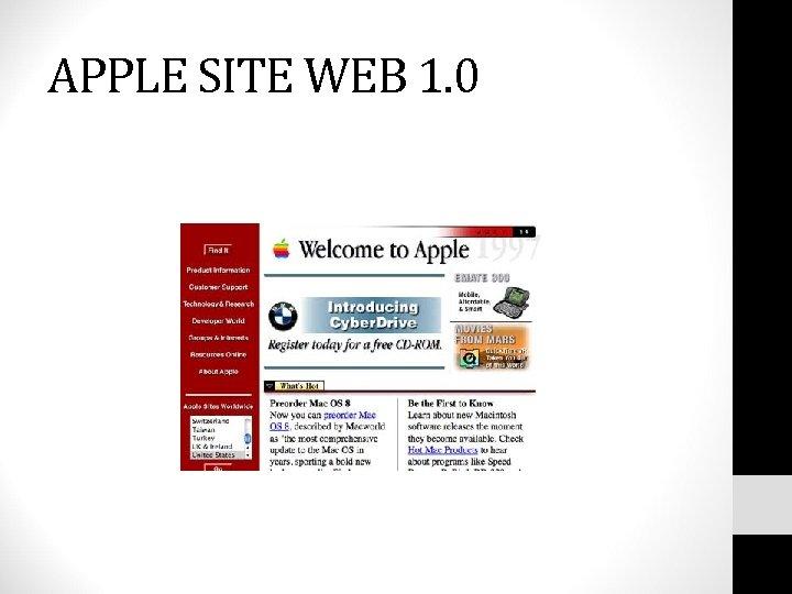 APPLE SITE WEB 1. 0