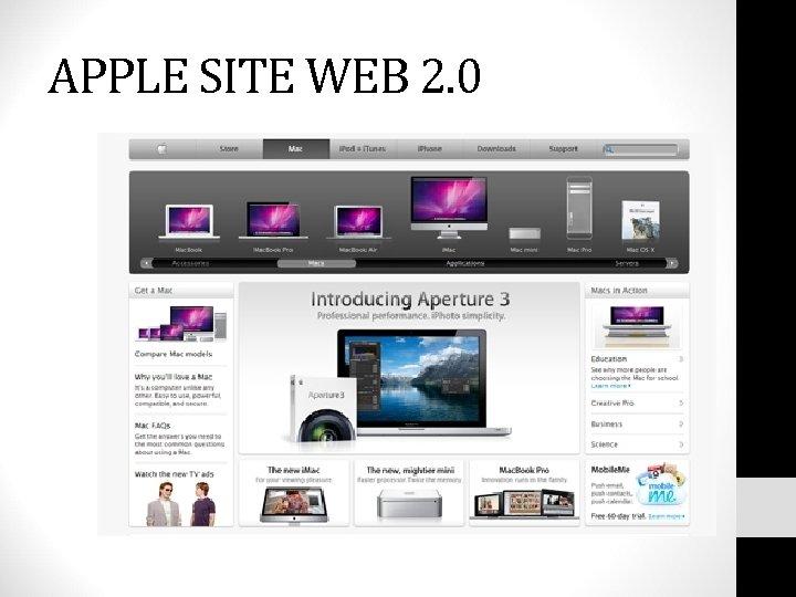 APPLE SITE WEB 2. 0