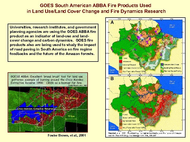 GOES South American ABBA Fire Products Used in Land Use/Land Cover Change and Fire