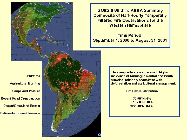 GOES-8 Wildfire ABBA Summary Composite of Half-Hourly Temporally Filtered Fire Observations for the Western
