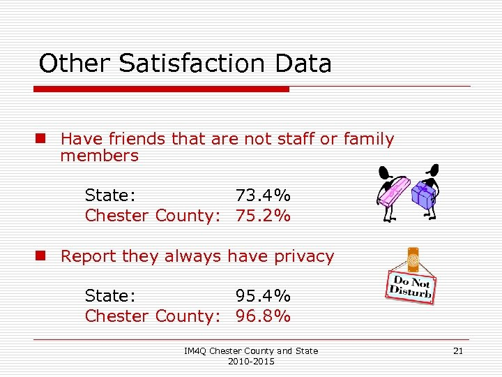 Other Satisfaction Data n Have friends that are not staff or family members State: