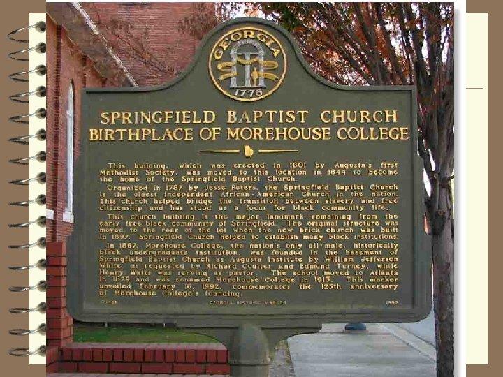 Reconstruction Struggles 4 Springfield Baptist marker