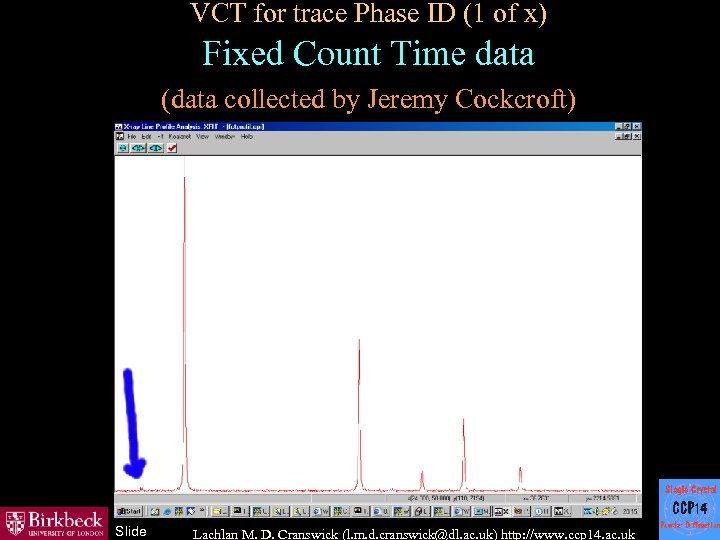 VCT for trace Phase ID (1 of x) Fixed Count Time data (data collected