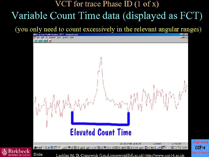 VCT for trace Phase ID (1 of x) Variable Count Time data (displayed as