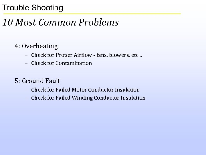 Trouble Shooting 10 Most Common Problems 4: Overheating – Check for Proper Airflow -