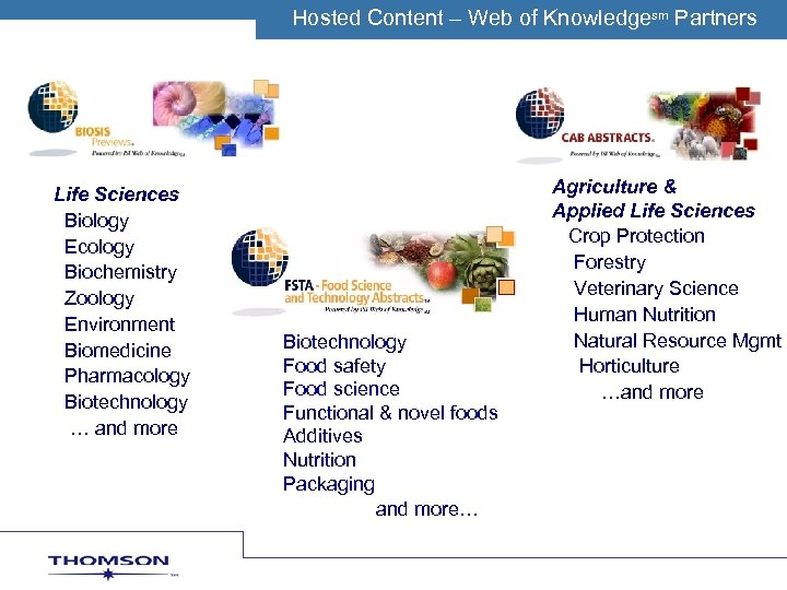 Hosted Content O MWeb of. C Knowledgesm Partners TH – SON S IENTIFIC Life