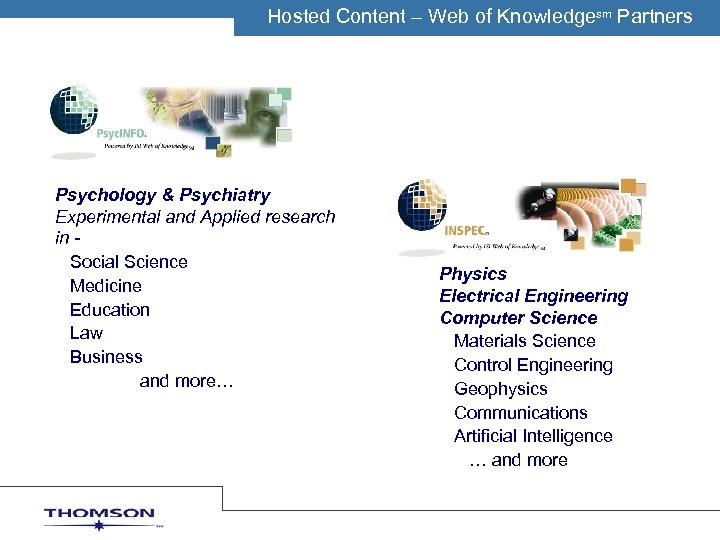 Hosted Content O MWeb of. C Knowledgesm Partners TH – SON S IENTIFIC Psychology