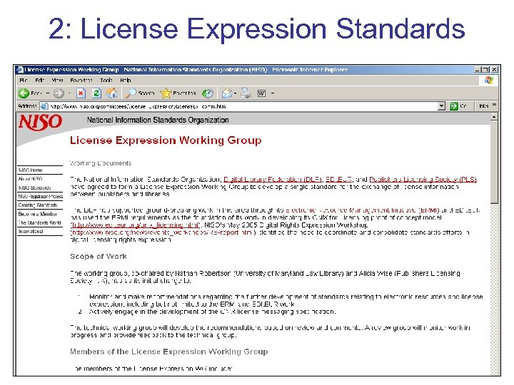 2: License Expression Standards